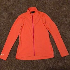 Bright Orange Long Sleeve Under Armour Jacket
